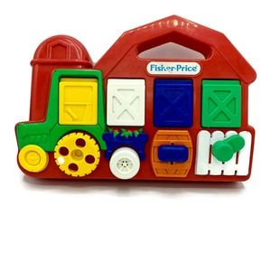 Vintage 1993 Fisher Price 5826 Tractor Pop Up Farm